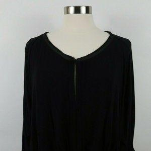Free People Womens XL Black Blouse